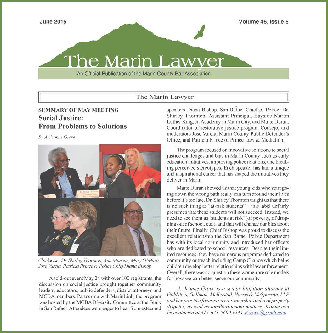 The Marin Lawyer